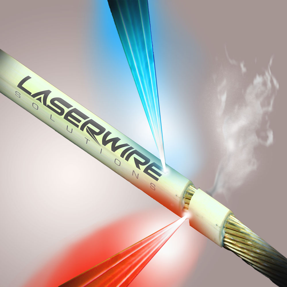 Artistic laser wire stripping shot